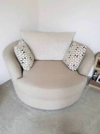 Two snuggle chairs for sale - brand new condition and Guardsman protection