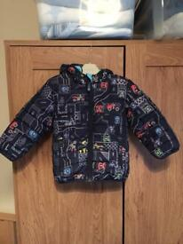 Boys showerproof puffer coat from next 18-24m