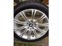 "Genuine BMW 18""MV2 Alloy wheel and tyre"