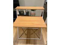 Two tier folding wooden desk