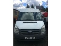 FORD TRANSIT 2009, LWB, Medium roof, White, 2.4l, Excellent condition