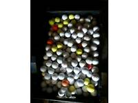 HUNDREDS OF MIXED MAKES AND COLOUR GOLF BALLS