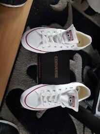 Genuine white converse size 7
