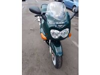SUZUKI GSX 750F BRITISH RACING GREEN WITH BRAND NEW TANK COVER - LOW MILEAGE