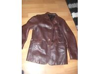 belstaff leather jacket large 42 chest