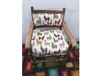 Revamped oak chair