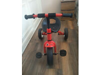 Kids Child Children Trike Tricycle 3 Wheeler Bike Steel Frame Toy - RED