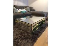 Mirrored Glass Coffee Table by Next Home