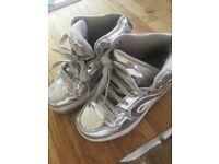Girls silver size 13 heelys