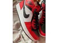 Jordan 1s red white and black