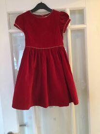 """Red velvet """"patachou"""" dress"""