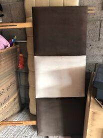 Double bed velvet headboard