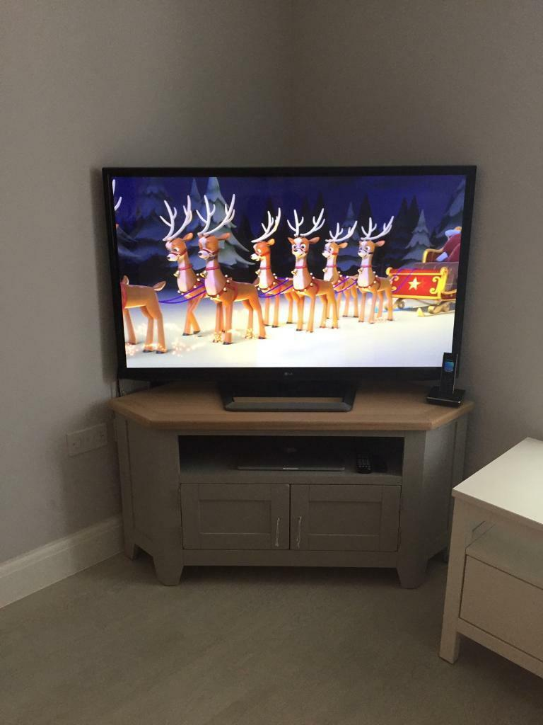 "LG Plasma TV 50"" and TV White Unit"