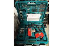 Makita Cordless Rechargeable Hammer Drill Set – Model 8391D