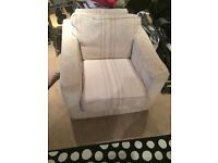 Large comfortable arm chair (colour) rust