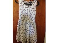 Cute space cats pattern dress size 8