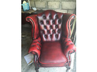 Chesterfield Queen Anne Winng Chair