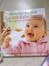 3x Annabel Karmel's Healthy recipe books for babies and toddlers