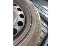 Mini steel wheels with good tyres 175/65/15