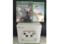 XBOX ONE GAMES - FORZA HORIZON 3 - GEARS OF WAR 4 / WHITE CONTROLLERS - BRAND NEW & SEALED