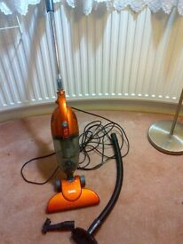 two-in-one stick bagless vacuum cleaner or hoover with attachments very good condition