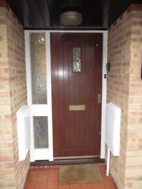 Front Door Mahogany colour with furniture.