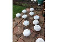 concrete garden mushrooms