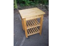 KIKITCHEN ISLAND/CHOPPING TABLE WITH TWO SHELVES AND CASTORS **CHESHIRE**