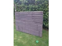 Fence Panels - Well Treated 3 No. 6ft long by 4 to 5ft high approx