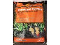 Farmyard manure 40ltr bags £3 each