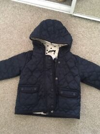 Next baby girl padded coat 9-12 month