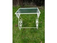Wrought iron small garden table