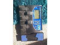 Multiple Effects Guitar machine with wah wah pedal