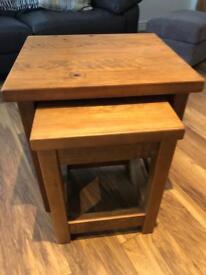 Next Hartford Nest of Tables (rustic oak)
