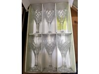 6 Galway Irish Crystal Wineglasses (New)