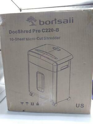 Bonsaii 10-sheet High Security Micro Cut Paper Shredder C220-b