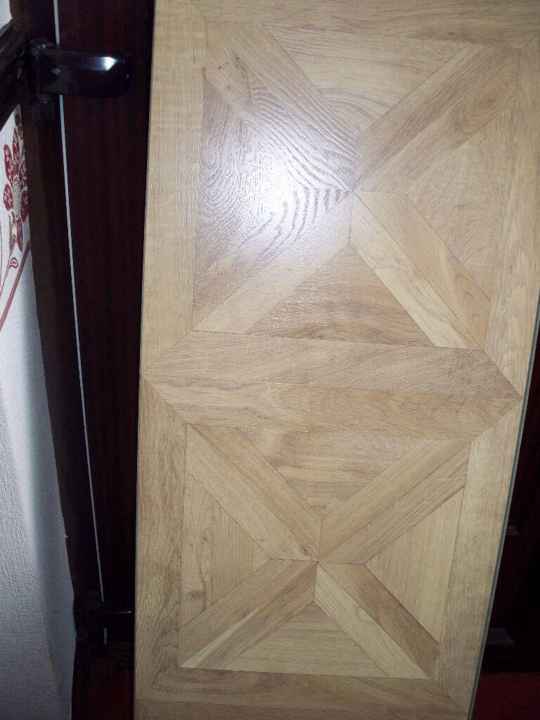 Staccato Oak Parquet Effect Laminate Flooring