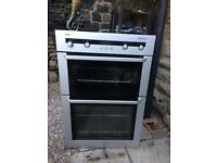 AEG electric integrated/built in double fan oven in silver