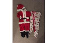 Baby Santa suit & baby grow 9-12 months