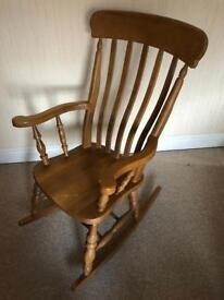 Beautiful wooden rocking chair