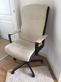 IKEA black and cream Office chair