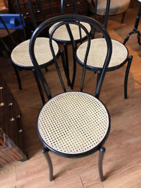 Kitchen metal chairs x4 in good condition with seat covers. Free local delivery feel free to view