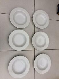 Betty Jackson dinner plates and bowl set of 6