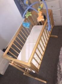 Mothercare crib mattress and mobile immaculate