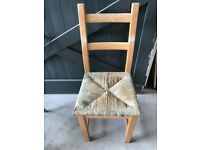 Kitchen/Dining Room Chairs - Rattan and pine - 2 Chairs - Used - Upcycle!!