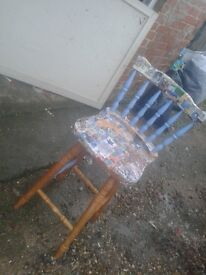 PINE WOODEN KITCHEN DINING DINER STOOL SEAT CHAIR PROJECT