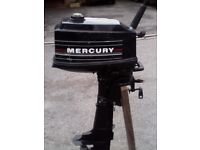 MERCURY 4HP BOAT OUTBOARD S SHAFT GOOD CLEAN CONDITION