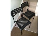 2x black ikea dining chairs