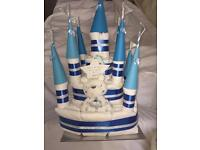 New baby gift Baby shower castle nappy cake