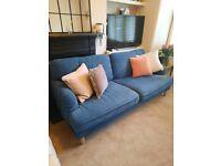Blue ikea stocksund sofa for sale
